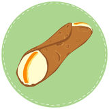 Illustration of typical sicilian dessert cannoli. Stock Image