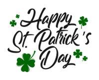 Typographic Saint Patrick`s Day greeting card. Illustration of Typographic Saint Patrick`s Day greeting card Stock Photo