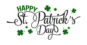 Typographic Saint Patrick`s Day greeting card. Illustration of Typographic Saint Patrick`s Day greeting card Royalty Free Stock Photo
