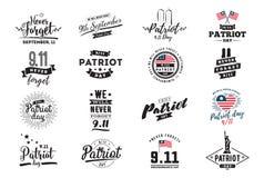 Illustration typographique de vecteur de jour de patriote illustration de vecteur