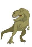 Illustration of a tyrannosaur Stock Photography