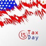 Illustration of U.S.A Tax Day background. Illustration of elements of U.S.A Tax Day background vector illustration
