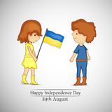 Illustration of Ukraine Independence Day Background Stock Photos