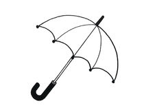 Illustration of an umbrella. Coloring book Illustration of  an umbrella for children Royalty Free Stock Photos