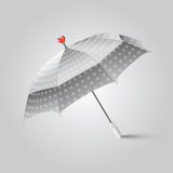 Illustration of a umbrella with heart. Royalty Free Stock Photos