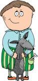 Illustration - un garçon avec un chien Images libres de droits