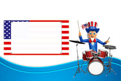 Illustration of Uncle Sam with drums Royalty Free Stock Photo