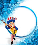 Illustration of uncle sam with gitar Stock Photo