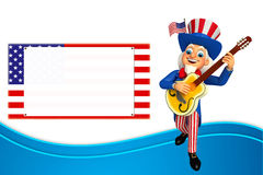 Illustration of uncle sam with gitar Royalty Free Stock Image