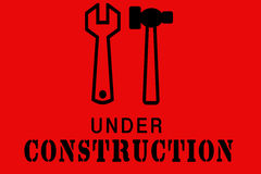 Illustration Under Construction background Royalty Free Stock Photos