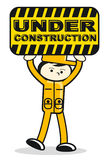 Illustration of under construction sign Stock Photo