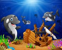 Illustration of under the sea. Illustration of animal under the sea Stock Image