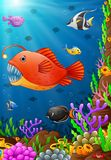 Illustration of under the sea. Illustration of fish under the sea Royalty Free Stock Photos