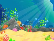 Illustration of underwater landscape. Vector illustration of illustration of underwater landscape  on white Royalty Free Stock Image