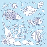 Illustration of underwater life. Royalty Free Stock Photos