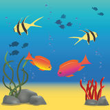 Illustration of underwater world Stock Photography
