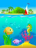Illustration of the underwater world Royalty Free Stock Photo