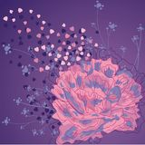 Illustration une belle fleur une pivoine Photos libres de droits