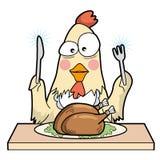 Cannibalism - chicken - unique type stock illustration