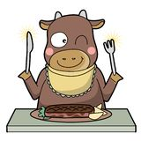Cannibalism - cow - Smile type stock illustration