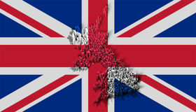 Illustration of united kingdom with blocks Royalty Free Stock Photos