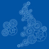 UK and Ireland Money Cogs Royalty Free Stock Photo