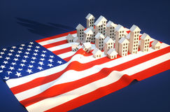 Illustration of United States real-estate development Stock Photos