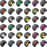 Illustration of a universal sticker icon set Stock Photography