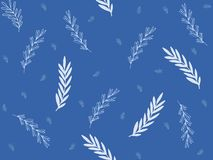 Illustration, unterschiedlich, weiß, blau, Zweige, Niederlassungen, Blau, Hintergrund vektor abbildung