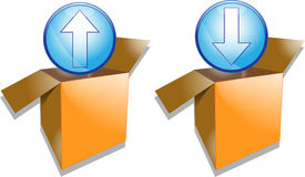 Illustration of upload and download symbols Stock Photos