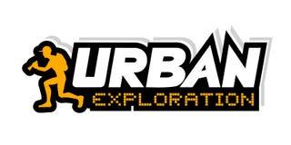 Illustration urbaine d'exploration illustration libre de droits