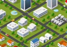 Illustration of the urban landscape. Royalty Free Stock Photo