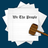 Illustration of USA Constitution Day Background Stock Photo