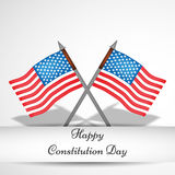 Illustration of USA Constitution Day Background Stock Image