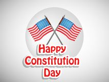 Illustration of USA Constitution Day Background Royalty Free Stock Photos