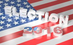 Illustration with USA flag and text election 2016 Stock Photography