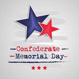 Illustration of USA State Kentucky Confederate Memorial Day background. With stars Royalty Free Stock Photography