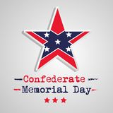 Illustration of USA State Kentucky Confederate Memorial Day background. With star and flag Stock Photos