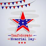 Illustration of USA State Kentucky Confederate Memorial Day background. With star and flag Royalty Free Stock Images