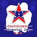 Illustration of USA State Kentucky Confederate Memorial Day background. With star and flag Royalty Free Stock Photography