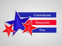 Illustration of USA State Kentucky Confederate Memorial Day background. With stars Royalty Free Stock Photos