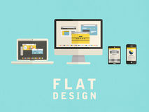 Illustration of user interface design in flat Royalty Free Stock Photography