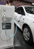 Illustration véhicule électrique. Station de recharge pour véhicule électrique Stock Images
