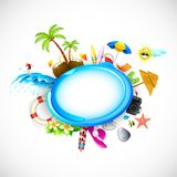 Vacation on Sea Beach Royalty Free Stock Images