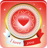 Illustration of Valentine Day cards. A beautiful  bright  illustration of Valentine Day cards Stock Photo