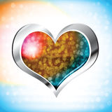 Illustration of valentine heart on abstract background Royalty Free Stock Photo