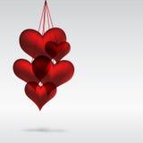 Illustration of valentine hearts Royalty Free Stock Image