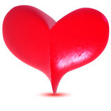 Pink 3d heart Royalty Free Stock Image
