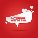 Illustration for Valentine's day. Valentine's day. February 14. Original and conceptual poster with a love message. Vector illustration Royalty Free Stock Image