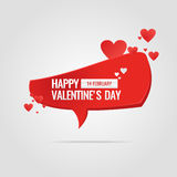 Illustration for Valentine's day. Valentine's day. February 14. Original and conceptual poster with a love message. Vector illustration Royalty Free Stock Photo